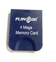 Play On 4 Mega Memory Card 4MB 59 Blocks Memory Pak for Nintendo GameCube