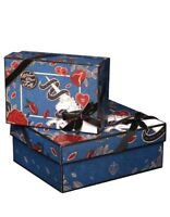 1 SET gift box+gift bag+gift card+shredded paper Unicorn roses birthday holiday