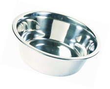 Drinking and Feeding Bowl Stainless Steel Trixie Ø20cm 1 8liter