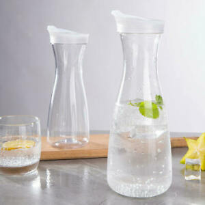 Carafe with Lid Pitcher Water Ice Tea and Juice Beverage Fruit Jug 1000ml