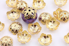 Lots Silver Gold Flower Shape Bead Caps DIY Craft Necklace Jewelry Making Acces