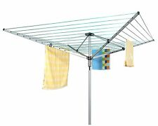 40M 4 Arm Heavy Duty Rotary Airer/Dryer Metal Spikes Clothes Washing Line Garden
