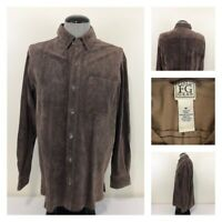 Field Gear Mens M Genuine Leather Shirt Jacket Made in USA