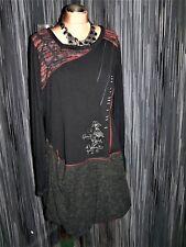 Kleid - Tunikakleid mit vielen modischen Details in Gr. 46 - 48 (2966)