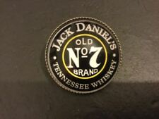 New JACK DANIELS No 7 logo LAPEL PIN BADGE Silver Plated Metal Whisky Whiskey