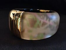 ALEXIS BITTAR PINK GREEN GOLD WHITE LUCITE Bracelet GOLD ACCENTS