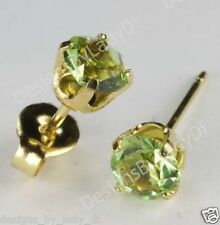 Studex Sensitive Gold 5mm Light Green Peridot August Birthstone Stud Earrings
