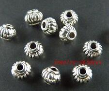100pcs Tibetan Silver Lantern Shaped Spacer Beads 5x4mm ZN71