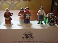Dept. 56 Heritage Village Accessory Violet Vendor/Carolers/Chestnut Vendor