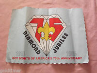 VINTAGE BSA BOY SCOUTS 1910-1985 75TH ANNIVERSARY DIAMOND JUBILEE PAPER PLACEMAT