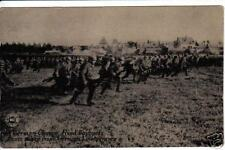 German Charge With Fixed Bayonets WWI Postcard Chicago Daily News