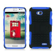 LG Optimus L70 Exceed 2 Hybrid Armor Case w/Stand MS323 D325+Screen Protector