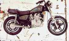 Honda CX500C 1981 Aged Vintage SIGN A4 Retro