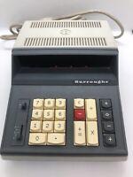 Vintage Burroughs Adding Machine Calculator C5000 Series. Clean, Powers Up