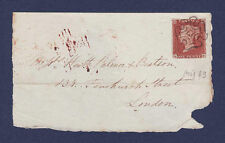 V33 GB QV 1841 1d RED-BROWN PLATE 33 (SG8) 'QB' FU ON LONDON FRONT