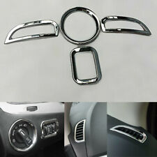 4XFor Dodge Journey 2011-14 Car ABS Chrome Light Switch Air Vent Cover Trim Fram