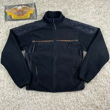 Harley Davidson FXRG Quilted Mesh Lined Full Zip Motorcycle Fleece Jacket