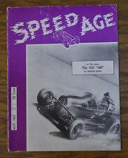 SPEED AGE #1 1947 AUTO RACING MAGAZINE INDY 500 DAYTONA MOTORCYCLE TETHER CAR