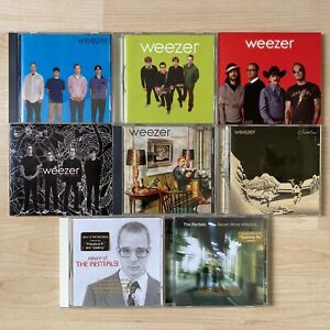 Weezer + Rentals CD Lot (8) Red Deluxe, Green, Pinkerton, Maladroit, Blue + More