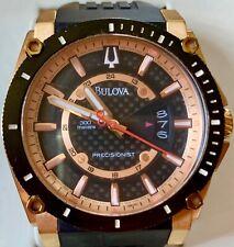 Bulova Precisionist Rose Gold and Black Diver