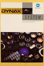 MINOLTA DYNAX System, Prospekt A4, 22 S., Objektive, Chipkarten + Zubehör, 1997