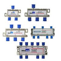 DIGITEK DIGITAL TV SPLITTER 2,3,4,6,8 WAY WITH POWER PASS ON ALL PORTS 5-2400MHZ