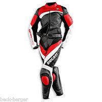 DUCATI Dainese CORSE Damen Lederkombi Kombi Leather Suit schwarz rot LADY NEU