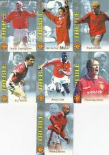 1999 MANCHESTER UNITED FOOTBALL CLUB TREBLE TRADING CARD COLLECTION SET (14+1)
