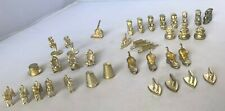 Gold Tone Game Tokens Monopoly Board Game Replacement Lot of 36 Collectible