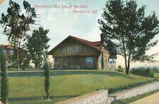 PASADENA CA – Mrs. Jas. A. Garfield Residence - 1909