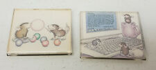 Pair of Ellen Jareckie House Mouse Magnets M-76 M-9709