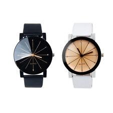 Hombre y Mujer Reloj Piel Sintética Cuarzo Acero Inoxidable Pareja