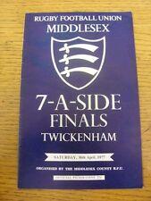 Programma di rugby 30/04/1977: 7-A - Lato Middlesex [a Twickenham] - Harlequin