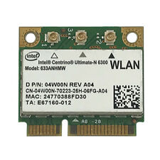 Intel Centrino Ultimate-N 6300 633ANHMW 450Mbp Wireless WIFI Half Mini PCIe Card