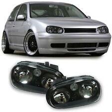SMOKED / BLACK HEADLIGHTS HEADLAMPS FOR VW GOLF MK 4 MK4 1997-09/2003 NICE GIFT