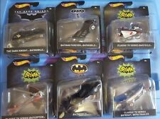 Hotwheels 2015 The Dark Knight Batmobile Batcycle Batcopter Batboat 6 items