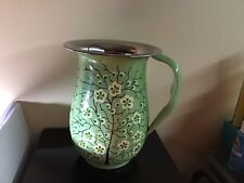New listing Enamelware Sage Green Jug Pitcher 7,25� Tall, Pre-owned, Excellent.