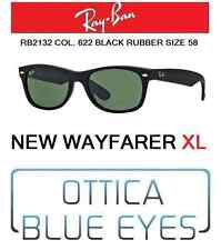 Occhiali da sole RAYBAN rb 2132 622 58 New Wayfarer XL Ray Ban Sunglasses RUBBER