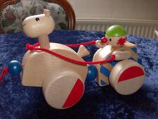 Haba Nachziehtier Holz Clown mit Pferd Kinderspielzeug