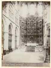Espagne, Burgos Catedral, Altar Mayor Vintage albumen print Tirage albuminé