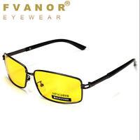 Mens HD Night Vision Driving Glasses Polarized UV400 Sunglasses Aviator Eyewear