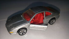 1996 Hot Wheels BMW 850i #498 - Silver w/red interior - Doors Open - Loose Car