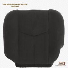 2003 - 2007 Fits GMC Sierra 1500 1500HD Driver Bottom Dark Gray Cloth Seat Cover