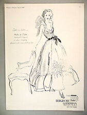 Bergdorf Goodman PRINT AD - 1948