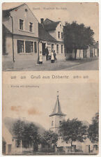 Ak Gruß aus Döberitz Gasthof Friedrich Storbeck Kirche Bahnpost 1916 !  (A2586