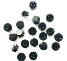 50pcs Black Round Tactile Button Caps For 12×12×7.3mm Tact Switches
