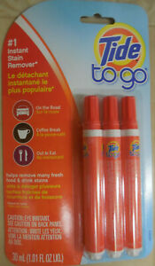 Tide To Go Instant Stain Remover Pen Portable Clothes Fabric Food Drink Cleaner
