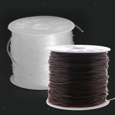 1mm hilo fuerte Elástico Elástico Cordón Cadena Cono 35M para Pulsera de abalorios