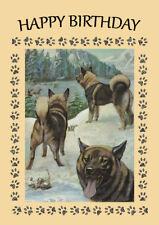 ELKHOUND DOG BIRTHDAY GREETINGS NOTE CARD