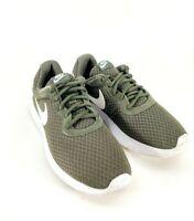 2016 Nike Tanjun Men's Green Cargo Mesh Athletic Running Shoes Size 8 812654-311
